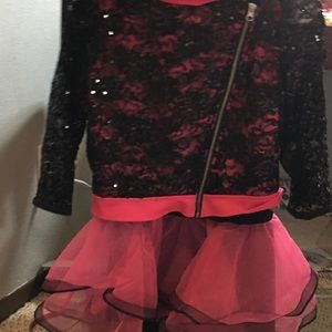 Dance skirt/ tank top with jacket